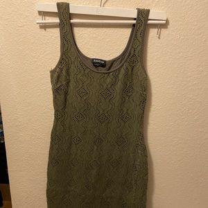 Olive green Bebe dress